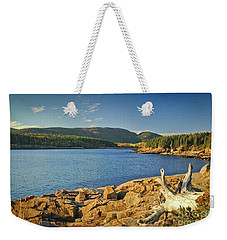 Weekender Tote Bag featuring the photograph Acadia  by Alana Ranney