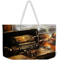 Accountant - The Adding Machine Weekender Tote Bag by Mike Savad