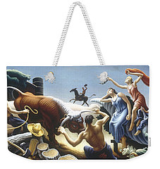 Achelous And Hercules Weekender Tote Bag