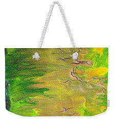 Acid Green Abstract Weekender Tote Bag