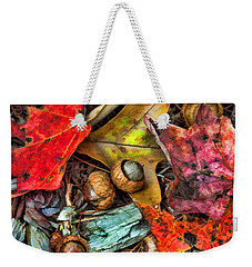 Acorns And Leaves Weekender Tote Bag by Kenny Francis