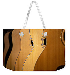 Weekender Tote Bag featuring the photograph Acoustic Design by John Rivera