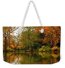 Across The Lake Weekender Tote Bag by Lyle Hatch