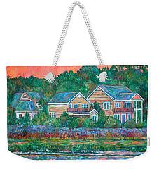 Weekender Tote Bag featuring the painting Across The Marsh At Pawleys Island       by Kendall Kessler