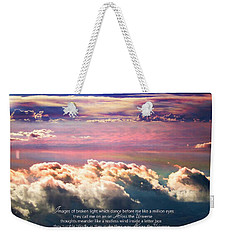 Weekender Tote Bag featuring the photograph Across The Universe by Cindy Greenstein