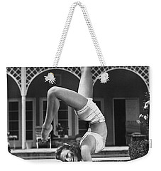 Actress Vera Zorina Exercising Weekender Tote Bag