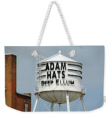 Weekender Tote Bag featuring the photograph Adam Hats In Deep Ellum by Charlie and Norma Brock