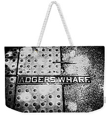 Weekender Tote Bag featuring the photograph Adgers Wharf by Sennie Pierson