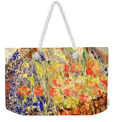 Weekender Tote Bag featuring the painting Adirondack Floral by Laurie L