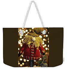 Weekender Tote Bag featuring the photograph Adirondack Santa  by Diane E Berry