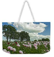 Adleman's Peony Fields Weekender Tote Bag