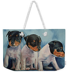 Adorable In Triplicate Weekender Tote Bag