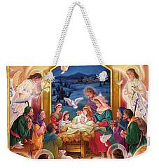 Adoring Angels Nativity Square Weekender Tote Bag