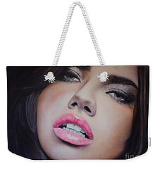 Adriana Lima Oil On Canvas Weekender Tote Bag