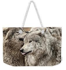 Adult Timber Wolf Weekender Tote Bag