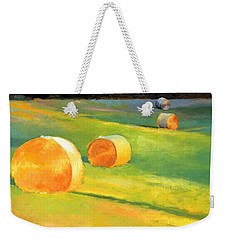 Advance Mills Hall Bales Weekender Tote Bag by Catherine Twomey
