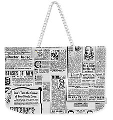 Advert - Edwardian Mens Health Weekender Tote Bag