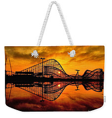 Adventure Pier At Sunrise Weekender Tote Bag