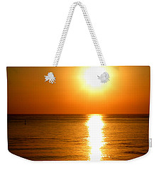 Weekender Tote Bag featuring the photograph Aegean Sunset by Micki Findlay