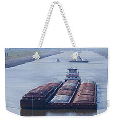 Aep Tow Passing Through The Chain Of Rocks Canal Weekender Tote Bag
