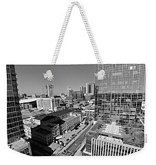 Aerial Photography Downtown Nashville Weekender Tote Bag by Dan Sproul