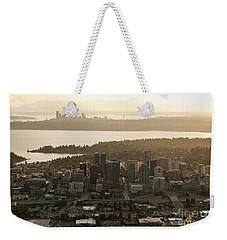 Aerial View Of Bellevue Skyline Weekender Tote Bag
