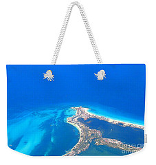 Aerial View Of Cancun Weekender Tote Bag by Patti Whitten
