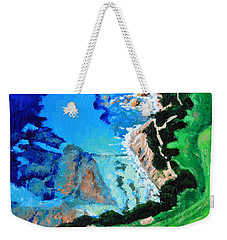 Aerial View Of Pebble Beach Weekender Tote Bag