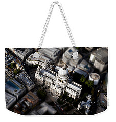 Aerial View Of St Pauls Cathedral Weekender Tote Bag by Mark Rogan