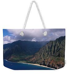 Aerial View Of The Coast, Na Pali Weekender Tote Bag