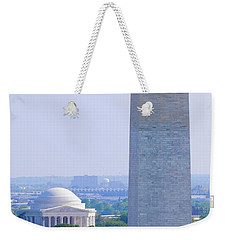 Aerial View Of Washington Monument Weekender Tote Bag