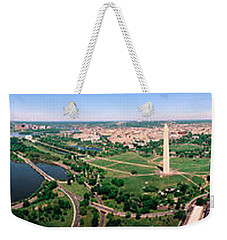 Aerial Washington Dc Usa Weekender Tote Bag by Panoramic Images