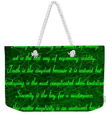 Aesthetic Quote 1 Weekender Tote Bag