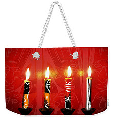 African Candles Weekender Tote Bag