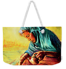 African Chai Tea Lady. Weekender Tote Bag by Sher Nasser