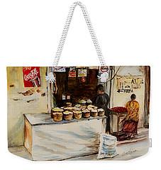 African Corner Store Weekender Tote Bag by Sher Nasser