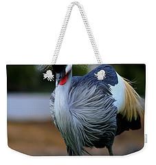 African Crowned Crane Running Weekender Tote Bag