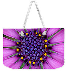Weekender Tote Bag featuring the photograph African Daisy Macro by Peggy Collins