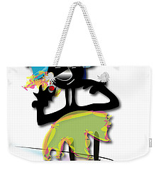 Weekender Tote Bag featuring the digital art African Dancer 3 by Marvin Blaine