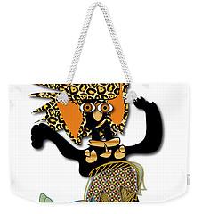 Weekender Tote Bag featuring the digital art African Dancer 6 by Marvin Blaine