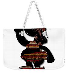 Weekender Tote Bag featuring the digital art African Dancer 7 by Marvin Blaine