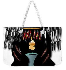 Weekender Tote Bag featuring the digital art African Drummer 2 by Marvin Blaine