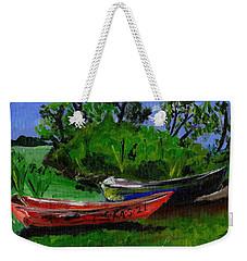 African Fishing Boats Weekender Tote Bag