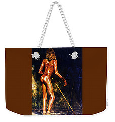 Weekender Tote Bag featuring the painting African Lady by Hartmut Jager
