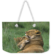 African Lions Mother And Cubs Tanzania Weekender Tote Bag