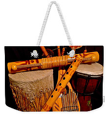 African Musical Instruments Weekender Tote Bag