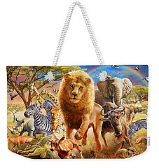 African Stampede Weekender Tote Bag by Adrian Chesterman