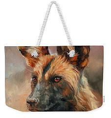 African Wild Dog Weekender Tote Bag