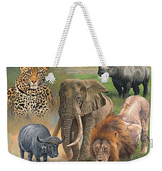 Africa's Big Five Weekender Tote Bag by David Stribbling