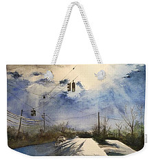 After Rain -on The Michigan Ave. Saline Michigan Weekender Tote Bag